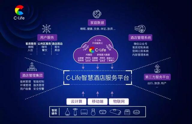 C-Life大数据平台的能力展示图